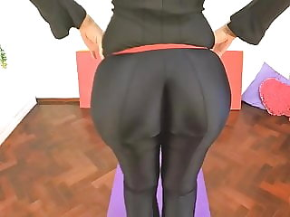 BEST ASS 2015! Working Out in a Black BodySuit. Enjoy Fiona!