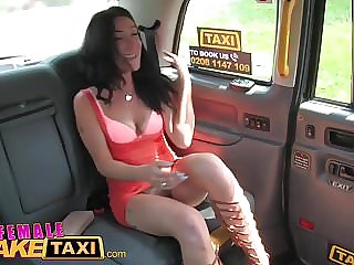 Female Fake Taxi Sweaty hot lesbian bushy pussies fingering