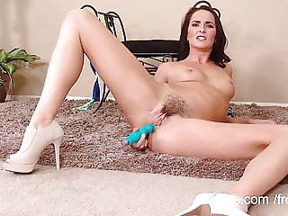 Stunning milf squirts again and again