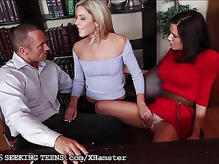 Couple Seduced by Therapist's not daughter