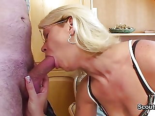 German Mom get fucked with young step-son after school