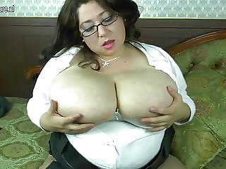 Spanish mom with big tits