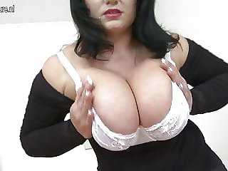 Hot MOM with big tits and hungry vagina