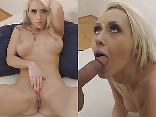 Stunning blonde Christina Shine squirting for first time