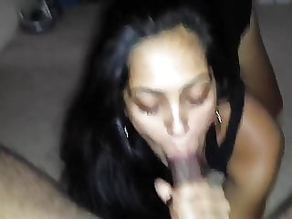 Hot Indian Babe Sucking Cock