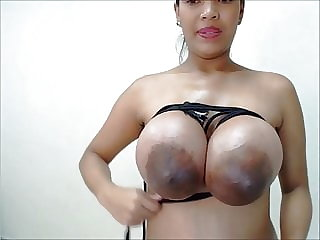 Lovely Busty Pregnant Latina Breasts Tied