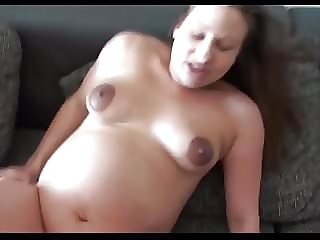 German Pregnat Amateur POV Fuck Doggy + Creampie