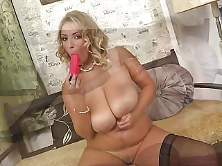 Gorgeous MILF with amazing big tits and body