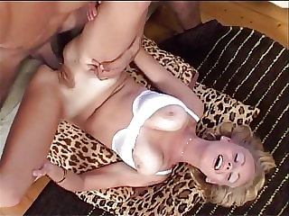 Beautiful Swedish Lena takes a huge cock in all of her holes