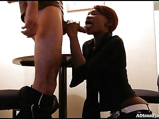 Sex Tape With African Girl Ends In Huge Facial!