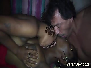 wild african threesome fuck orgy