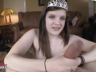 BrandNewAmateurs barely 18yo Blowjob Princess Riley Audition