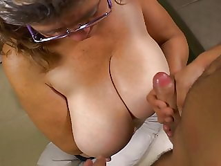 Busty granny suck and fuck lucky boy