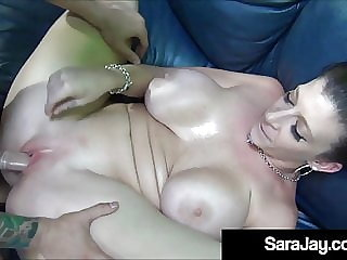 Milf Sex Queen Sara Jay Lubes Her Big Butt For A Good Fuck!
