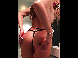 Perfect ass girl fucked in the bathroom