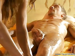 Big Cock Gets Sensual Erotic Massage