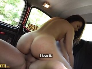 Fake Taxi Shy student Riley Bee strikes sexual deal