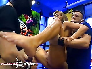 Sexy babe Silvia Dellai Gets her ass destroyed in a gangbang
