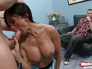 Fucking Hot Milf and Cuckhold