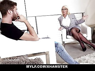MYLF - Mature Milf Gets Cum On Her Huge Tits