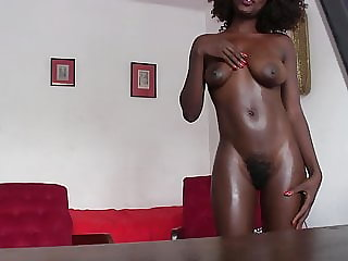 Black Booty Sucks Big White Cock On Casting