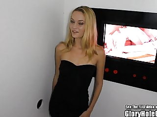 Glory Hole Tiny Tits Blonde Beauty Sucking Dicks