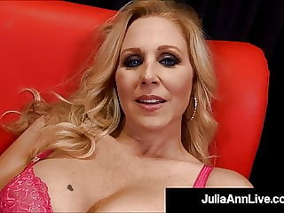 Cum Milking Cougar Julia Ann Strokes, Blows & Pops A Cock!