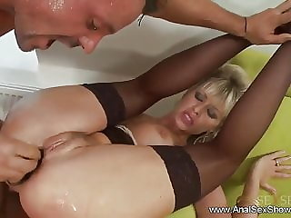 Anal German Blonde MILF Rough Fuck