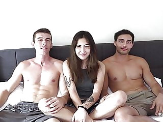 2 Bi Curious Guys FUCK Hot Jewish Girl