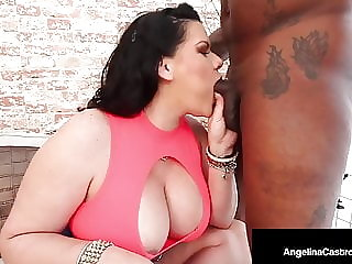 Naughty or Nice? BBW Angelina Castro Gets Black Santa Cock!