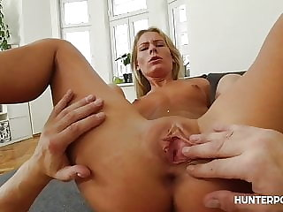 Amazing blonde sex goddess banged hard