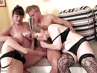 Real hungry amateur matures sharing boy