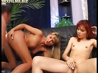 Two couples in anal group