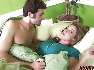 Kinky housewife Kayla Paige cucks husband with big cock