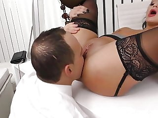 Amazing babe in stockings gets shafted hard