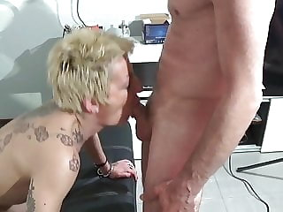 A very tattoed slut fucked hard