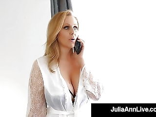 Who's Your Mommy? Hot Milf Julia Ann Milks Cock!