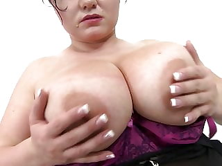 Natural busty mom tries big boy