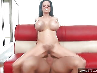 Mature Milf with Monster Tits is riding her lovers Cock