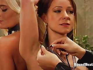 Bound Lesbian Girls Whipped And Punished By Merciless Madame