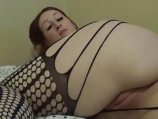 Homemade BBW Fucking herself in bedroom! Boobs Tits Pussy
