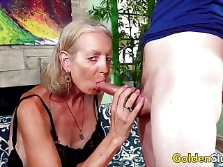 Golden Slut - Older Lady Blowjob Compilation Part 3