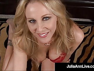 Mommy We'd Like To Fuck - Julia Ann Milks Cock With Mouth!