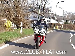 CLUBXFLAT-  biker babe towed after breakdown