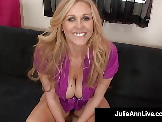Hot Mega Milf Julia Ann Drools Jizz After Sucking Hard Cock!