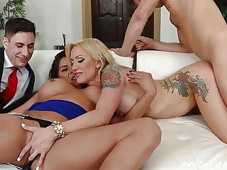 Big Tit Tattoo Blonde Slut Wifey Swings
