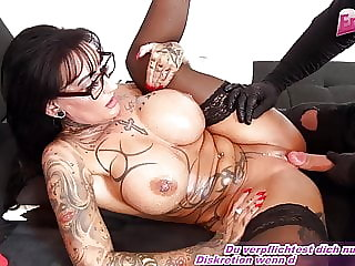 German femdom milf get fuck from slave with bit tits