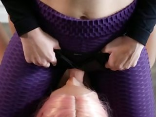 Strapon Slips and Stretches Sex Doll Anal with Cumshot