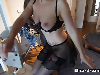 Hotwife gets DP while husband films her