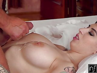 Busty Brunette Teen Sheril Blossom Craves Hot Coco And Cum